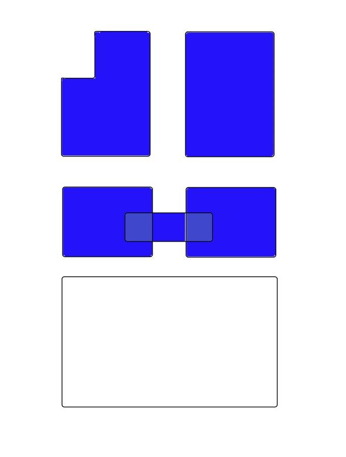 A6C6 Salona paklāju komplekts ar pārlikni