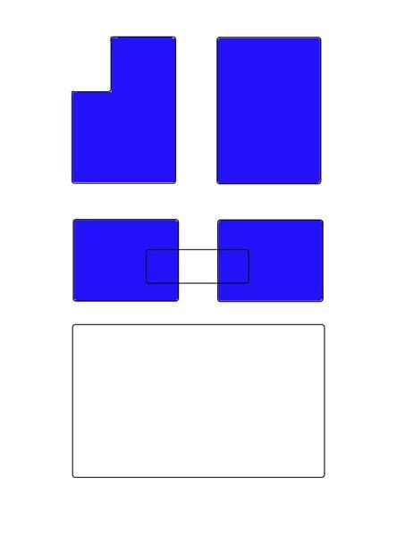 A8D5 LONG Salona paklāju komplekts BEZ pārliktņa