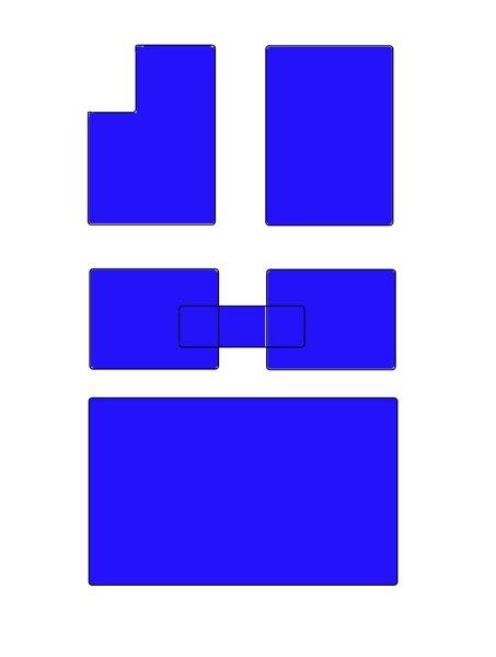 E87 Salona paklāju komplekts AR pārliktni un ar bagāžas nodalījuma paklāju