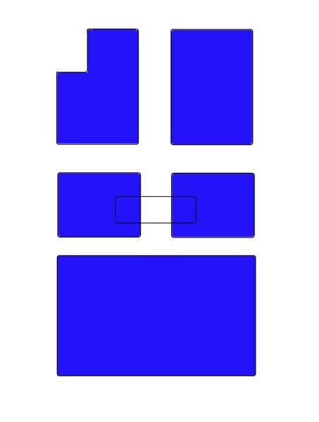 E53 Salona paklāju komplekts BEZ pārliktņa ar bagāžas nodalījuma paklāju